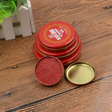 Round Red Ink Paste for Seal Ink Pad Calligraphy Painting Tool