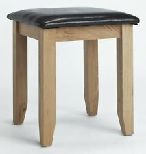 Camberley Oak Stool | Wood Dressing Study Computer Laptop Console Table Desk