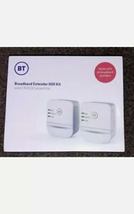 BT Mini Wi-Fi Home Hotspot 600 AV600 Powerline Adapter Kit White