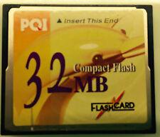 PQI Compact Flash CF Memory Card 32MB FC032  Digital Camera Nikon Canon