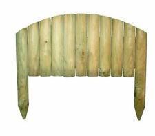 Bordura bordatura ad arco per giardino orto legno aiuola pino impregnato 54x3,7