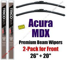 Wipers 2-Pack Premium Beam Wiper Blades - fit 2014+ Acura MDX - 19260/19200