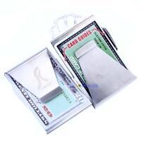2X Unisex Ultra Slim Steel Money Clip Double Sided Credit Card Holder Wallet WT