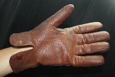 gants en cuir  intérieur molleton année 50 vintage
