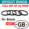 72.6 - 65.1 / 6mm. SPIGOT RINGS SET OF 4 For Alloy Wheel Hub Centric car spacer