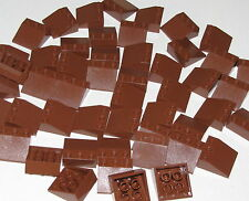 LEGO LOT OF 50 NEW REDDISH BROWN SLOPE 33 SLOPED 3 X 3 PIECES PARTS