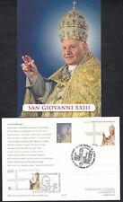 VATICANO ITALIA 2014 - CARTOLINA CANONIZZAZIONE PAPA GIOVANNI XXIII