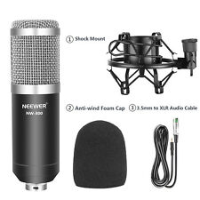 Neewer NW-800 Pro Cardioid Studio Condenser Microphone Set with Shock Mount