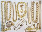 Vintage Mod Gold Tone Necklace LOT Monet Givenchy Clara Studio Trifari Napier+