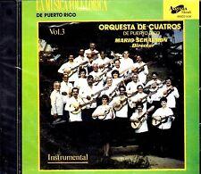 ORQUESTA DE CUATRO DE PUERTO RICO VOL.3 - MARIO SCHARRON (INSTRUMENTAL) -CD