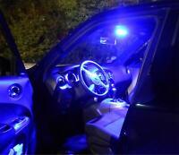 8x Led Interior Lighting Tuning Lamps Bulb Pack Blue for Nissan Qashqai