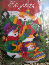 Dimensions Christmas STOCKING FELT Applique Holiday Craft Kit,SINGING TRIO,#8096