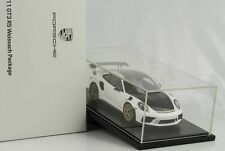 Porsche 991 911 II GT3 RS Weissach Package weiss mit Vitrine 1:18 Spark WAP Deal