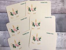 Personalised/Handmade Unicorn Thank You Postcards, Pk of 10 with Envelopes