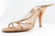 BP. Strappy Gold Leather Women Shoes Size 7.5 Medium (B, M)