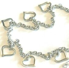 """1/2"""" + 2"""" Extension $7.39 Stainless Steel Hearts Anklet 9"""
