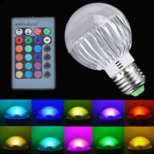 15W E27 RGB LED Light Color Changing Lamp Bulb 85 265V With Remote Control