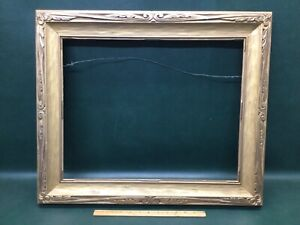 """Arts & Crafts Antique Carved Wood Frame for 16"""" by 20"""" Painting Newcomb Macklin"""