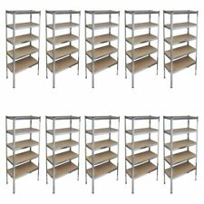 10X Metal Steel 90x180cm Storage Rack Shelving Garage Shelves Warehouse 875kg