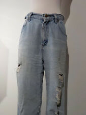 Womens Lee Jeans  28x29 Mom Jeans High Waist Torn Distressed Faded Size 6
