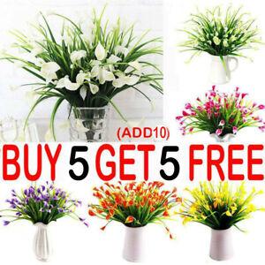 Artificial Lily Tulip Flowers Fake False Plastic Plants Garden Outdoor Decor YE4