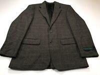 Oscar De La Renta 40R Brown Wool Camel Hair 2Btn Jacket Sport Coat Blazer NEW