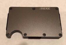 The Ridge Wallet Aluminum Gunmetal Slim + Money Clip