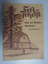 Chronik/Festschrift Schul und Heimatfest Niederfrohna 1965 Limbach-Oberfrohna