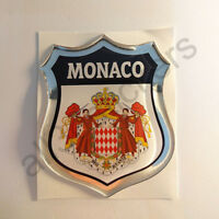 Sticker Monaco Emblem Coat of Arms Shield 3D Resin Domed Gel Vinyl Decal Car