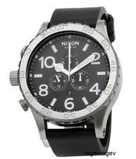 Genuine New Nixon A124000 Watch Mens 51-30 Chrono Leather Black A124-000