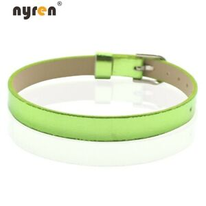 10pcs Leather Charms Bangle Bracelet 8mm Width For Charms DIY Jewelry 07049