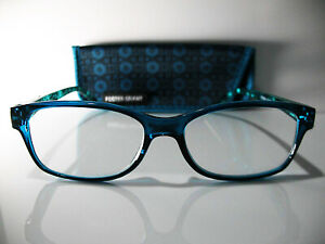 New! Foster Grant PEARL Teal 2.50 Reading Glasses W/Soft Case