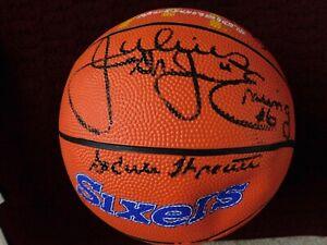 [14] '84-85 PHILA 76ers signed BALL- Dr. J - BARKLEY - BILLY C. - MOSES -TONEY++