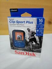 SanDisk - Blue - Sansa Clip Sport Plus 16GB MP3 Player w/ Bluetooth BRAND NEW