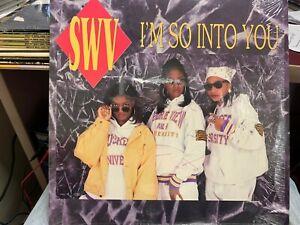 """SWV I'm So Into You 12"""" 1992 RCA 62450 SHRINK"""
