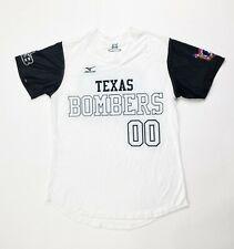 Mizuno Texas Bombers Softball Jersey Women's Small White Black Top Shirt