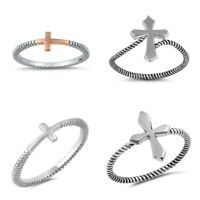 NEW! DESIGNS STERLING SILVER- CROSSES RINGS SIZES 3-12