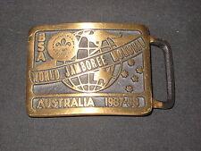 1987-88 World Jamboree Max Silber bronze Belt Buckle US Contignet  c1