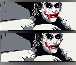 QUADRO MODERNO Joker batman pop art REALIZZATO A MANO OLIO SU TELA