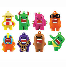 NEW DOMO SERIES 2 NEON COLORS FIGURINES SET OF 8 CUP CAKE TOPPER FIGURES FAVORS