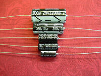 Pack of 5 Electrolytic Capacitors 10uF 22uF 47uF 350V Axial RoHS Unicon UK Stock