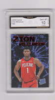 ZION WILLIAMSON  RATED ROOKIE CARD  ACEO CUSTOM CARD THE RED CARD GRADED 10