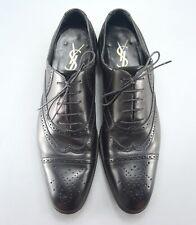Yves Saint Laurent Rive Gauche Tom Ford Era Black Leather Brogues 41EU UK7 US8
