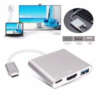 3 in1 Hub Type-C USB 3.1 to HDMI USB-C USB 3.0 Male to Female Converter Adapter