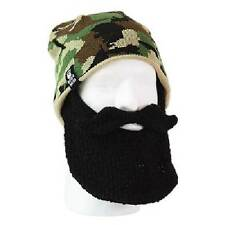 Beard Head - Skully Duke - Camo Beanie with Black Beard Face Warmer