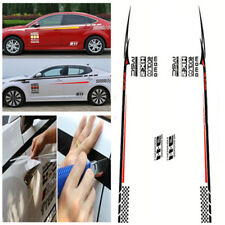 Pair of Car Sticker Material Car Vinyl Decal Sticker For Honda Civic Red&White