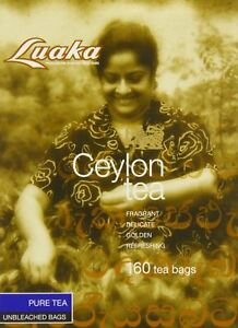Luaka Economy Tea Bags Ceylon Tea in Unbleached Bags 160 Bags