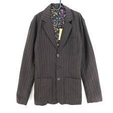 RRP €173 SINGLY Brown Striped Jacket Size M L