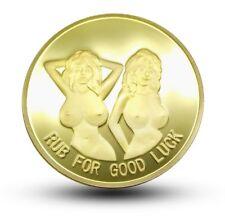 Erotische Medaille * Münze * SEXY LADY * goldenfarben