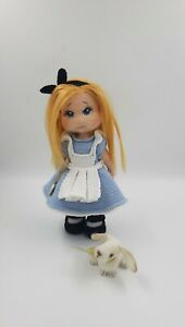 Crochet doll Alice in Wonderland, crochet white rabbit, handmade gift 11 in